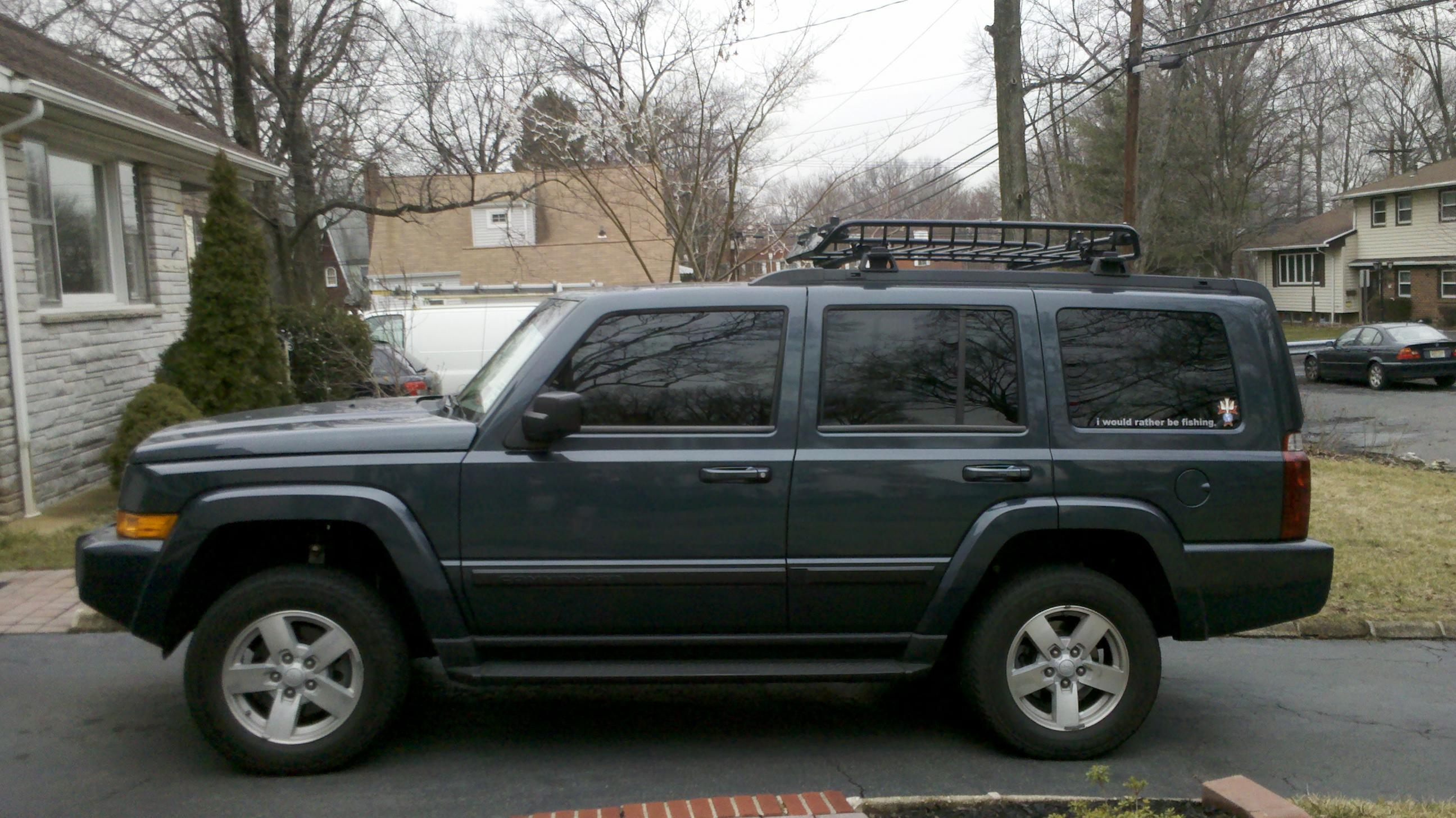 rough country 2 inch lift installed - before and after pics - jeep