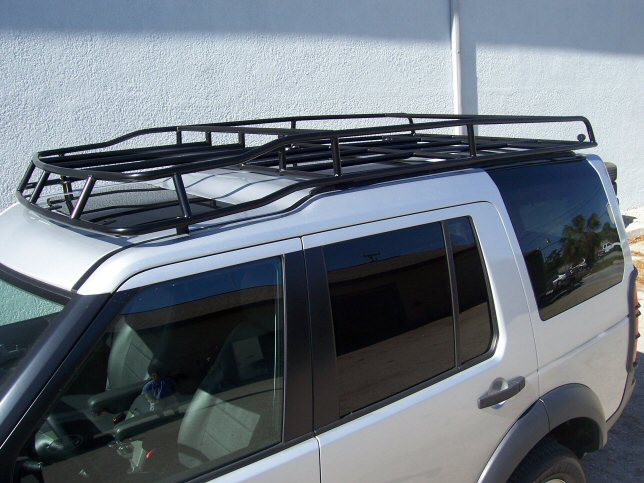 standard voyager landrover offroad rover racks challenge land road off roof and rack white